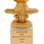 John Wayne's Golden Globe for True Grit