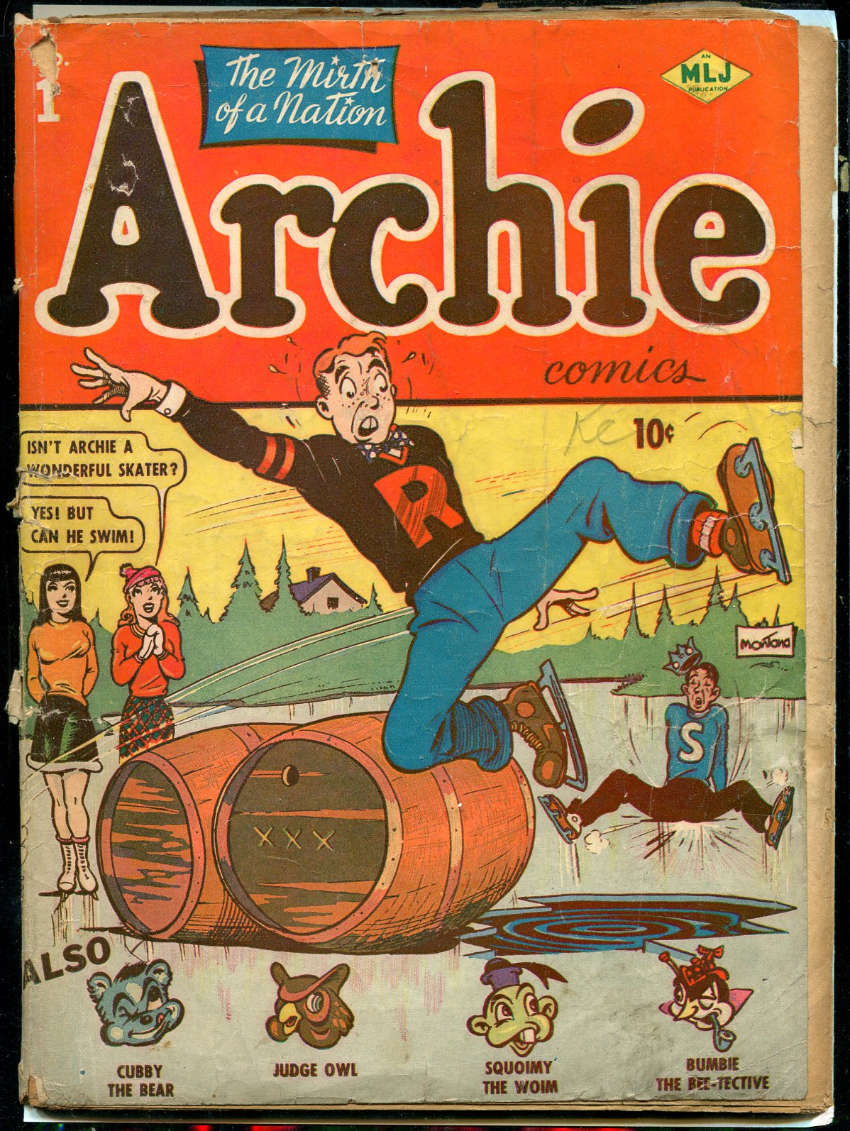 The many Golden Age comics will include a copy of the very first Archie Comics comic book.