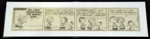 Original Charles Schulz Peanuts daily comic strip from 1966; a Li'l Folks strip will also be sold.